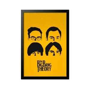 Quadro Poster The Big Bang Theory Rostos 33x23cm