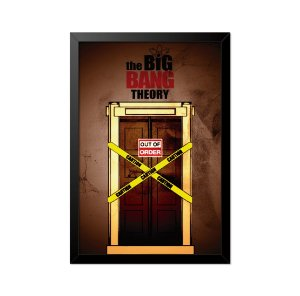 Quadro Poster The Big Bang Theory Elevador 33x23cm