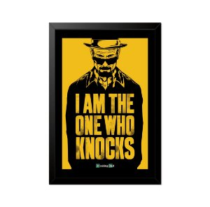 Quadro Poster Breaking Bad I am the one who Knocks 33x23cm