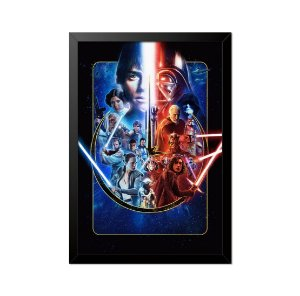 Quadro Poster Star Wars Personagens 33x23cm