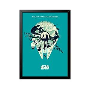 Quadro Poster Star Wars Millennium Falcon 33x23cm