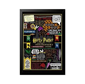 Quadro Poster Harry Potter Referências I 33x23cm