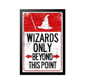 Quadro Poster Harry Potter Wizards Only 33x23cm