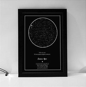 Quadro Mapa Das Estrelas A4