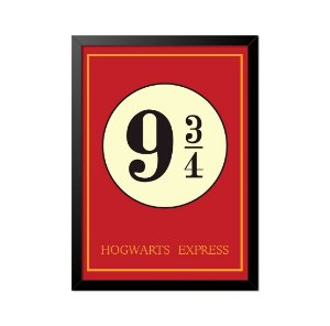 Quadro Poster Harry Potter 9 3 4 33x23cm