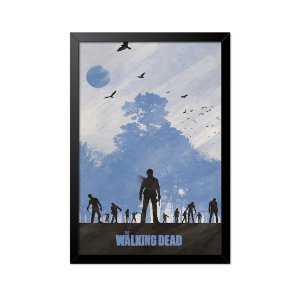 Quadro Poster The Walking Dead Zumbis 33x23cm