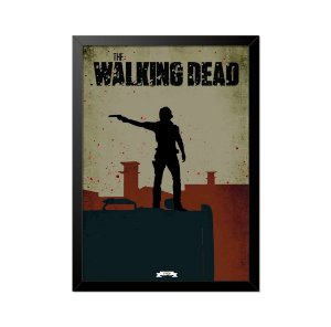 Quadro Poster The Walking Dead Rick Grimes 33x23cm