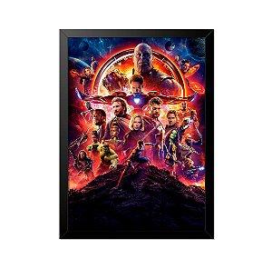 Quadro Poster Vingadores Personagens 33x23cm