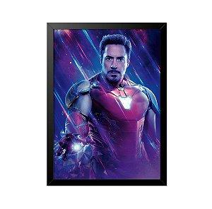 Quadro Poster Homem de Ferro Robert Downey Jr33x23cm