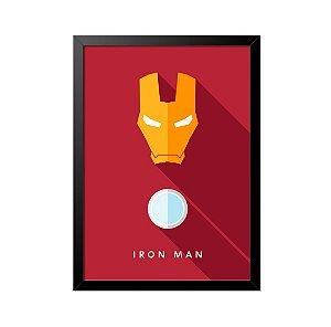 Quadro Poster Homem de Ferro Minimalista 33x23cm