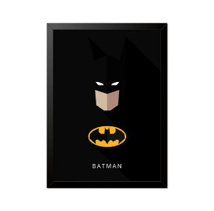 Quadro Poster Batman Minimalista 33x23cm