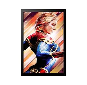 Quadro Poster Capitã Marvel 33x23cm