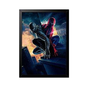 Quadro Poster Homem Aranha Reflexo 33x23cm