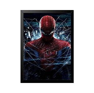 Quadro Poster Homem Aranha Teias 33x23cm