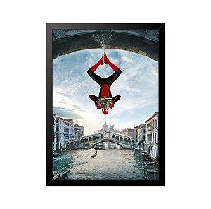 Quadro Poster Homem Aranha Ponte 33x23cm