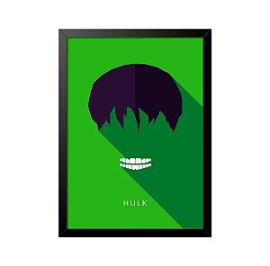 Quadro Poster Hulk Minimalista 33x23cm