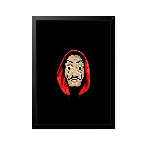 Quadro Poster La Casa de Papel Máscara 33x23cm