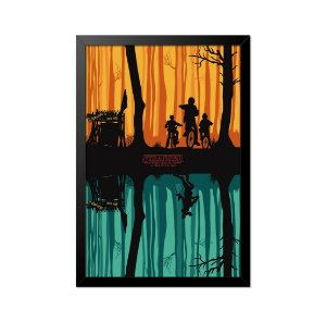 Quadro Poster Stranger Things Mundo Invertido 33x23cm
