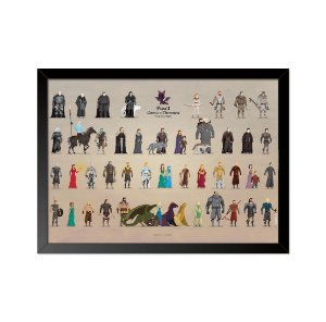 Quadro Poster Game of Thrones Pixel 33x23cm