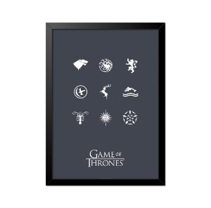 Quadro Poster Game of Thrones Casas 33x23cm