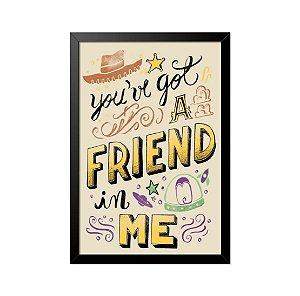 Quadro Poster Toy Story Música 33x23cm