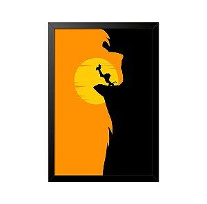 Quadro Poster O Rei Leão 33x23cm