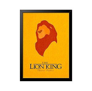 Quadro Poster O Rei Leão Minimalista 33x23cm
