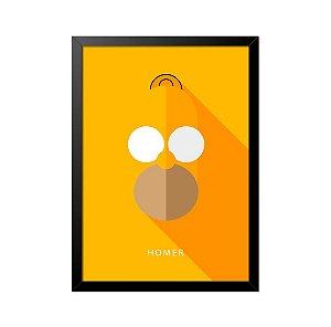 Quadro Poster Simpsons Homer Minimalista 33x23cm