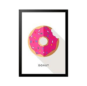 Quadro Poster Simpsons Donut Minimalista 33x23cm