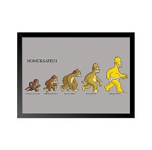 Quadro Poster Simpsons Homersapien 33x23cm