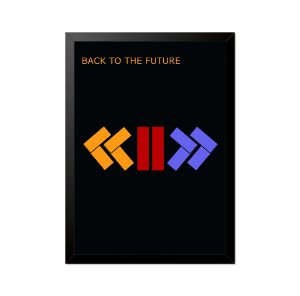 Quadro Poster De Volta para o Futuro Minimalista 33x23cm