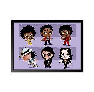 Quadro Poster Michael Jackson 33x23cm