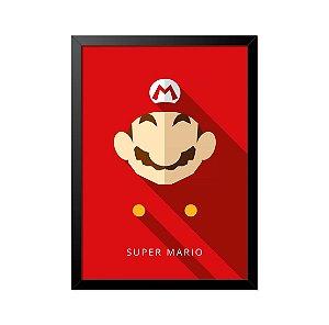 Quadro Poster Mario Bros 33x23cm