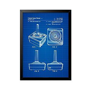 Quadro Poster Controle Atari Projeto 33x23cm