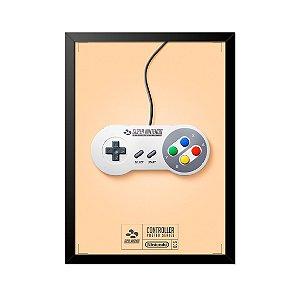 Quadro Poster Controle Super Nintendo 33x23cm