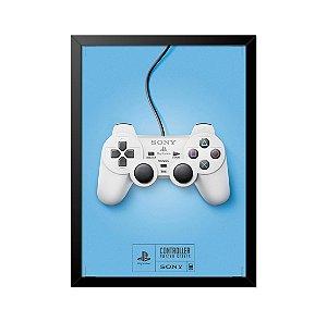 Quadro Poster Controle Playstation 33x23cm