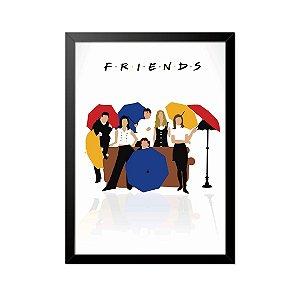 Quadro Poster Seriado Friends Guarda Chuva 33x23cm