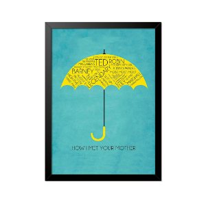 Quadro Poster How I Met Your Mother Guarda Chuva 33x23cm
