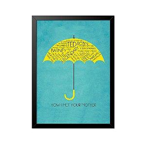 Quadro Poster How I Met Your Mother Guarda Chuva 33x23cm