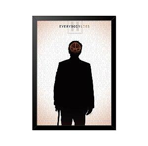 Quadro Poster Seriado House Lies 33x23cm