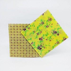 Flores / Losango Lilás {Tecido de Cera * Kit com 2 M}