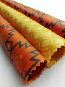 Terracota & Dourado {Tecido de Cera * Kit com 3 P/M/G}