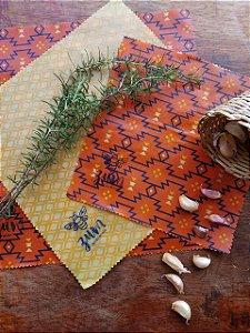 Terracota & Dourado {Tecido de Cera * Kit com 3}