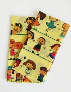 Tecido de Cera estampa Crianças Brincando {Kit com 2 M}