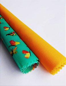 Borboletas & Amarelo {Tecido de Cera * Kit com 2 M}