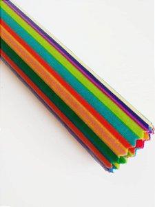 Tecido de Cera estampa Arco-Iris tamanho G Unitário