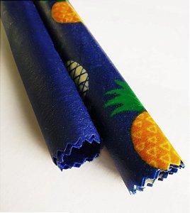 Abacaxi & Azul {Tecido de Cera * Kit com 2 P}