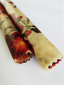 Rosas Vermelhas {Tecido de Cera * Kit com 2 P}