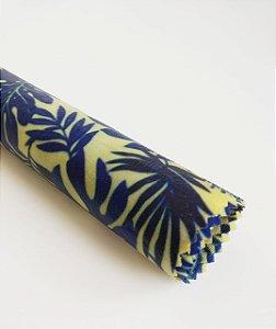 Tecido de Cera estampa Costela de Adão Azul {M Unitário}