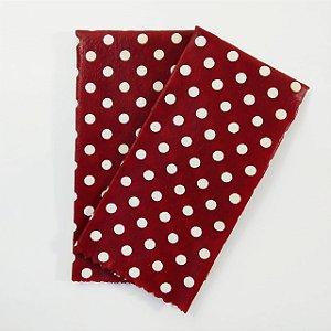 Tecido de Cera estampa Poá Branco Fundo Vermelho {Kit com 2 P}